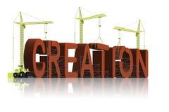 Creation evolution or intelligent design belief Stock Images