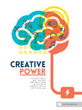 Creative brain Idea concept background design layout Royalty Free Stock Images