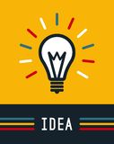Creative idea in light bulb shape, Lamp icon, Idea Stock Image