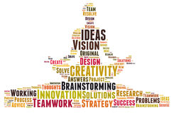 Creativity and ideas and vision Stock Image