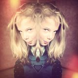 Creepy girl Stock Photo
