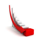 Crisis finance bar graph with falling down arrow Stock Photography