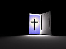 Cross. Belief beside Royalty Free Stock Photos