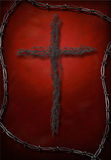 Cross on Red Royalty Free Stock Photography