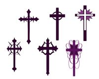 Set of isolated Crosses decorated Stock Image