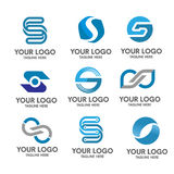 Letter s logo set Royalty Free Stock Photography