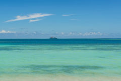 Cruise liner in Pacific Ocean Royalty Free Stock Photos