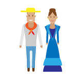 Cuba national dress Royalty Free Stock Images