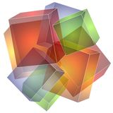 Cubes Squares Collage Texture Royalty Free Stock Photos