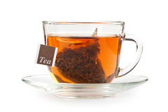 A cup of tea with tea bag Royalty Free Stock Image