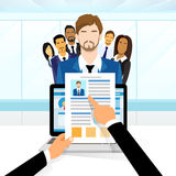 Curriculum Vitae Recruitment Candidate Job Royalty Free Stock Images