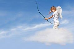 Curva e seta do despedimento do Cupid Imagem de Stock