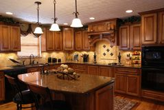 Custom Kitchen Stock Image