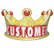 Customer Gold Crown Top Priority King VIP Treatment Stock Photos