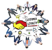 Customer Loyalty Service Support Care Trust Casual Concept Stock Images