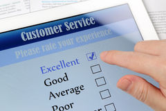 Customer service online survey Royalty Free Stock Images