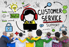 Customer Service Support Assistance Service Help Guide Concept Stock Photography