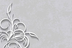 Cut of paper style decor on a aged background. Stock Photo