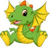 Cute baby dragon cartoon Stock Photo