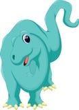 Cute brontosaurus cartoon Stock Images