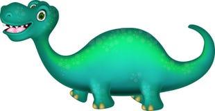 Cute brontosaurus cartoon Royalty Free Stock Photography