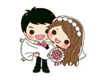 Cute couple wedding Royalty Free Stock Photography
