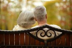 Cute elderly couple Stock Photo