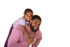 Cute preschooler and dad Royalty Free Stock Photography