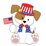 Cute Puppy Fourth of July Royalty Free Stock Photography