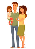 Cute young family Stock Images