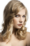 Cute young girl with stylish hair Stock Image