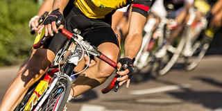 Cycling competition Stock Image