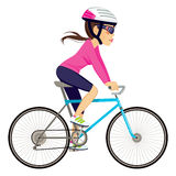 Cycling Professional Woman Stock Image