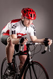 Cyclist on a bicycle Royalty Free Stock Images
