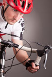 Cyclist on a bicycle Royalty Free Stock Image