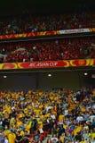 Défenseurs chinois et australiens du football Photographie stock libre de droits