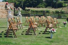 Día del sol de la boda Fotos de archivo libres de regalías