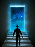 Dörr till universum Arkivbild