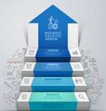 3d business arrow step staircase infographics. Royalty Free Stock Image