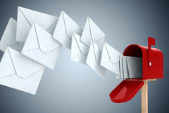 3d envelope and mail box Stock Images