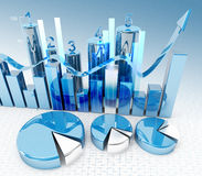 3d finance graphics Stock Images