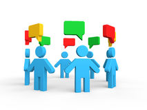 3d group discussion concept Stock Photography