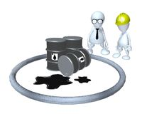 A 3d man hazardous material oil spill cleanup Stock Image