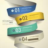 3d paper abstract flow chart infographics Royalty Free Stock Image