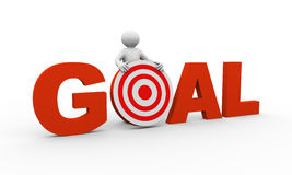 3d person with goal target Royalty Free Stock Photo