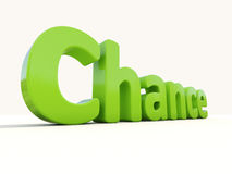 3d word chance Stock Photography