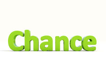 3d word chance Royalty Free Stock Photo