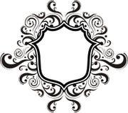 Damask ornamental emblem Royalty Free Stock Image
