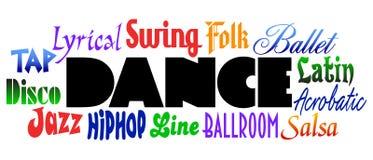 Dance Styles/eps Stock Photography