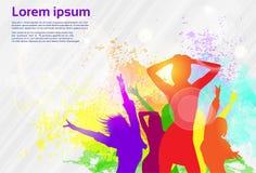 Dancing Colorful Girl Splash Paint Dance Banner Royalty Free Stock Photo